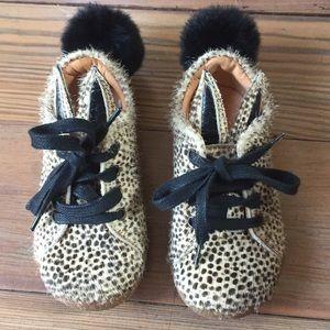 Italian Fur Bunny Shoe - Size 23